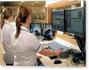 Hospital Radiography Control Room Canvas Print by Public Health England