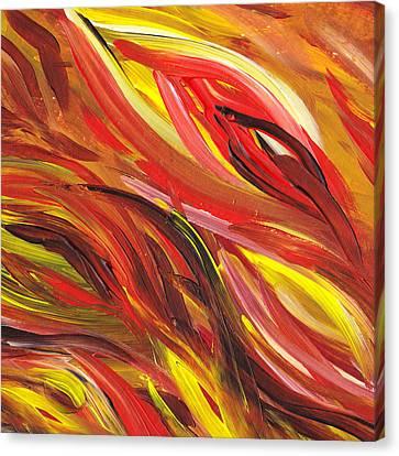 Hot Abstract Flames Canvas Print by Irina Sztukowski