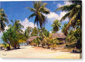 Hot Afternoon At The Beach Canvas Print by Anthony Mwangi