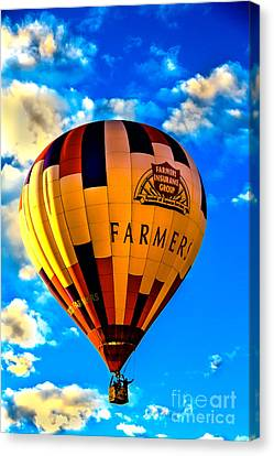 Hot Air Ballon Farmer's Insurance Canvas Print