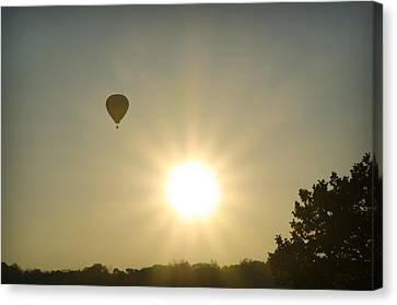 Hot Air Balloon At Sunrise Canvas Print by Bill Cannon
