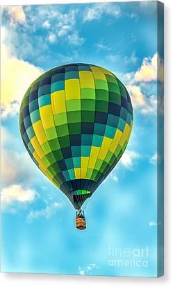 Hot Air Balloon Checkerboard Canvas Print by Robert Bales