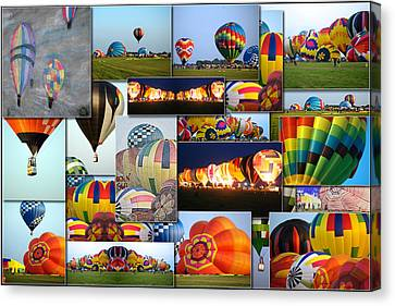 Hot Air Balloon Collage Rectangle Canvas Print by Thomas Woolworth