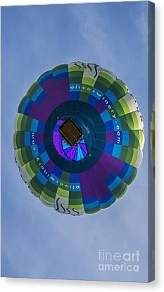 Southern Indiana Canvas Print - Hot Air Balloon Ow 2 by David Haskett