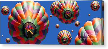 Hot Air Balloon Panoramic Canvas Print