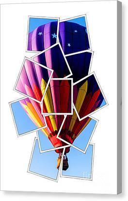 Hot Air Balloon Polaroid Canvas Print by Edward Fielding
