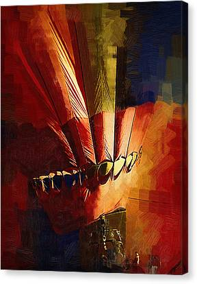 Hot Air Balloon Ready To Go Canvas Print by Kirt Tisdale