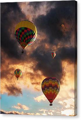 Hot Air Balloons - Chasing The Horizon Canvas Print
