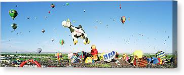 Hot Air Balloons In The Sky Canvas Print by Panoramic Images
