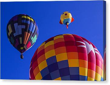 Hot Air Balloons Launch Canvas Print by Garry Gay