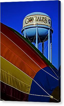 Hot Air Balloon Canvas Print - Hot Air In Gonzales by Andy Crawford