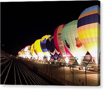 Canvas Print featuring the photograph Balloon Glow by John Swartz