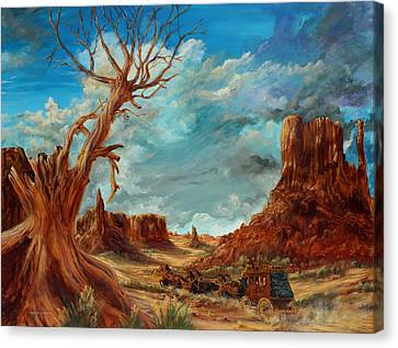 Southern Utah Canvas Print - Hot And Dusty by Robert Wright