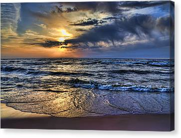 Hot April Sunset Saugatuck Michigan Canvas Print