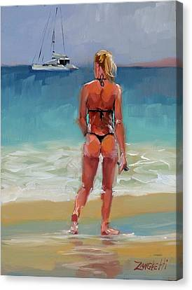 Hot Buns Canvas Print by Laura Lee Zanghetti