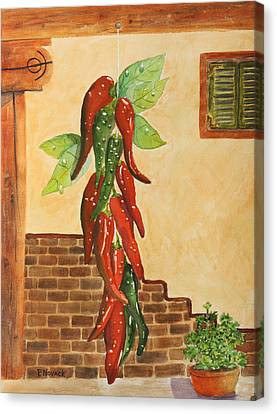 Hot Chili Peppers Canvas Print by Patricia Novack