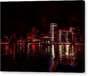 Hot City Night Canvas Print