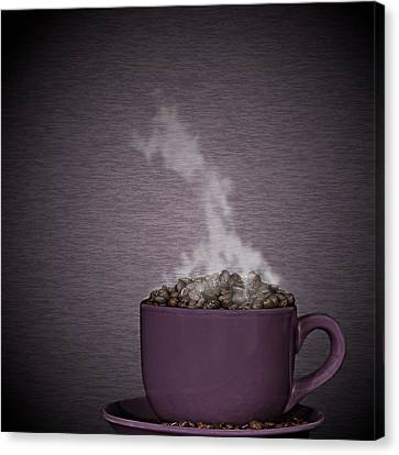 Canvas Print featuring the photograph Hot Coffee by Gert Lavsen