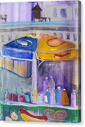Hot Dogs  Canvas Print by Leela Payne