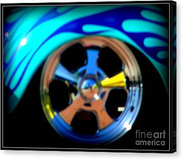 Canvas Print featuring the photograph Hot Hot Wheels  by Bobbee Rickard