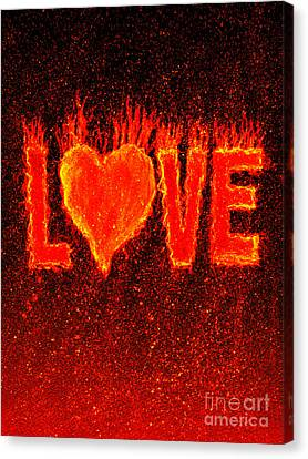 Hot Love  Canvas Print by Bill Holkham