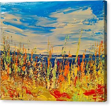 Hot Mush Fall Weeds Canvas Print