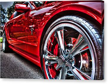 Hot Mustang Canvas Print by Tommy Anderson