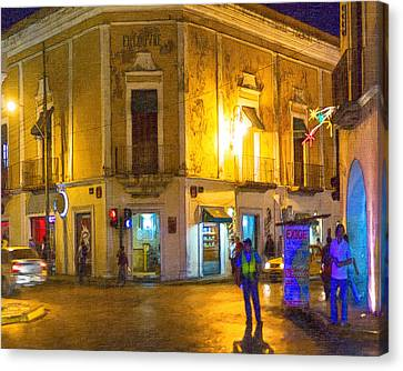 Hot Nights In The Yucatan Canvas Print by Mark E Tisdale