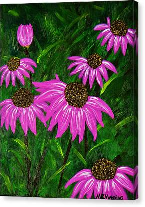 Canvas Print featuring the painting Hot Pink Jungle by Celeste Manning