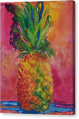 Hot Pink Pineapple Canvas Print