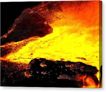Canvas Print featuring the photograph Hot Rock And Lava by Pennie  McCracken