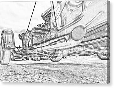 Hot Rod Exhausting Canvas Print