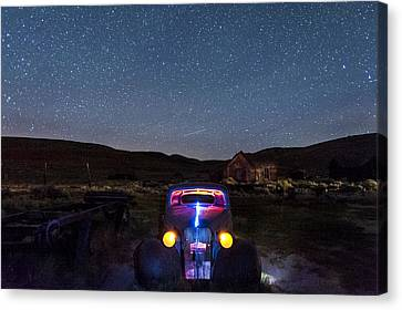 Hot Rod Nights Canvas Print by Cat Connor