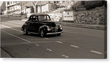 Hot Rod On The Street Canvas Print by Dan Sproul