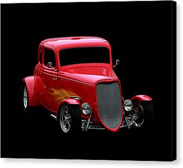 Hot Rod Canvas Print featuring the photograph Hot Rod Red by Aaron Berg