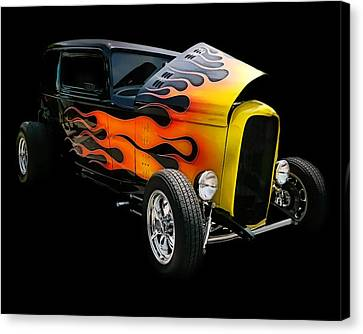 Canvas Print featuring the photograph Hot Rod by Victor Montgomery