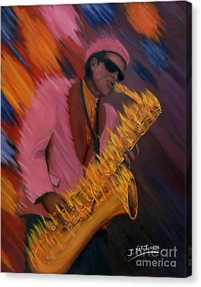 Hot Sax Canvas Print by Jeff McJunkin