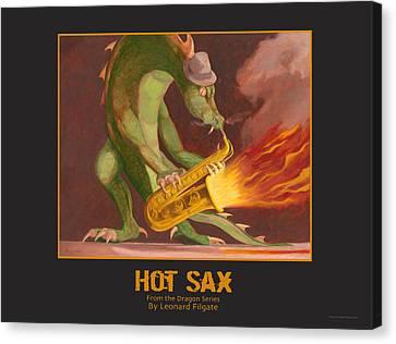 Hot Sax Canvas Print