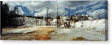Hot Spring On A Landscape, Angel Canvas Print by Panoramic Images