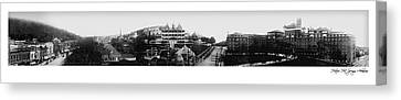Hot Springs Arkansas Panoramic Canvas Print by Retro Images Archive