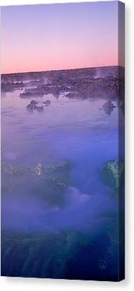 Hot Springs In A Lake, Blue Lagoon Canvas Print by Panoramic Images
