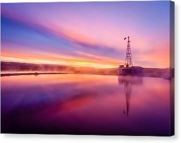 Hot Springs Sunrise Canvas Print