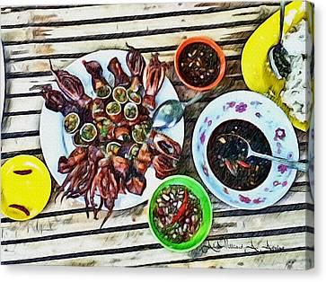 Hot Squid Delicacy Canvas Print