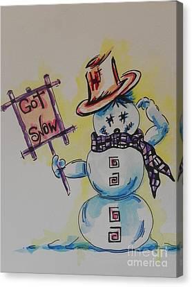 Hot Stuff.... Got Snow Canvas Print by Chrisann Ellis