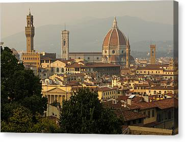 Hot Summer Afternoon In Florence Italy Canvas Print by Georgia Mizuleva