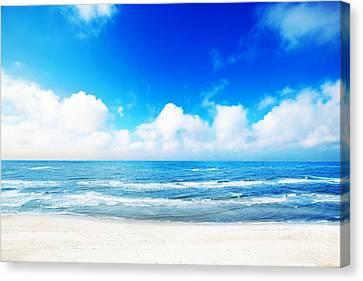 Hot Summer Beach Canvas Print by Michal Bednarek