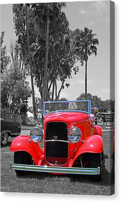 Canvas Print featuring the photograph Hot V8 by Shoal Hollingsworth