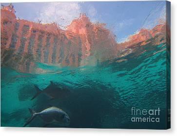 Hotel Atlantis From Underwater Canvas Print by John Malone