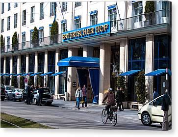 Hotel Bayerischer Hof In Munich Canvas Print