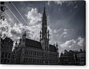 Bruxelles Canvas Print - Hotel De Ville Brussels by Joan Carroll